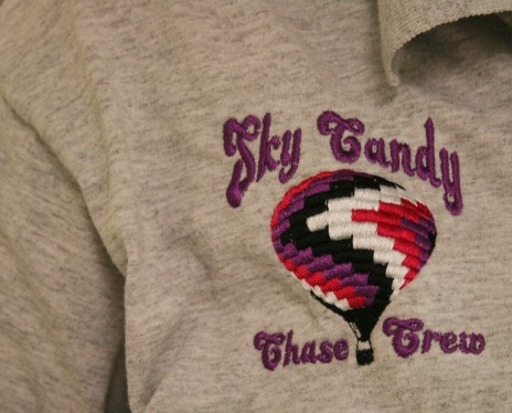 The Sky Candy Chase crew are responsible for chasing and recovering the hot air balloon. Photo credit - Hilary Broman
