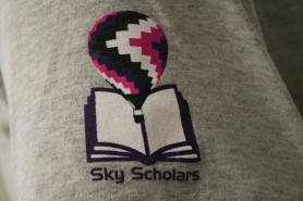 The Sky Scholars Patch - The Sky Scholars are a group of young people who have recently aged out of the foster system that work with the Sky Warriors. Photo Credit - Hilary Broman