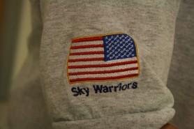 Proud Sky Warrior wearing the team shirt. Photo Credit - Hilary Broman